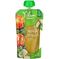 Дитяче пюре з брокколі і яблук, (Organic Baby Food), Plum Organics, 113 г