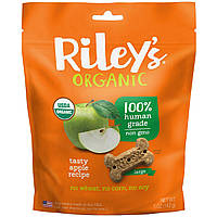 Riley's Organics, Dog Treats, Large Bone, Apple Recipe, 5 oz (142 g), фото 1