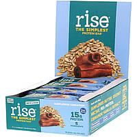 Батончики с семенами подсолнечника и корицей, Sunflower Cinnamon, Rise Bar, 12 бат., фото 1