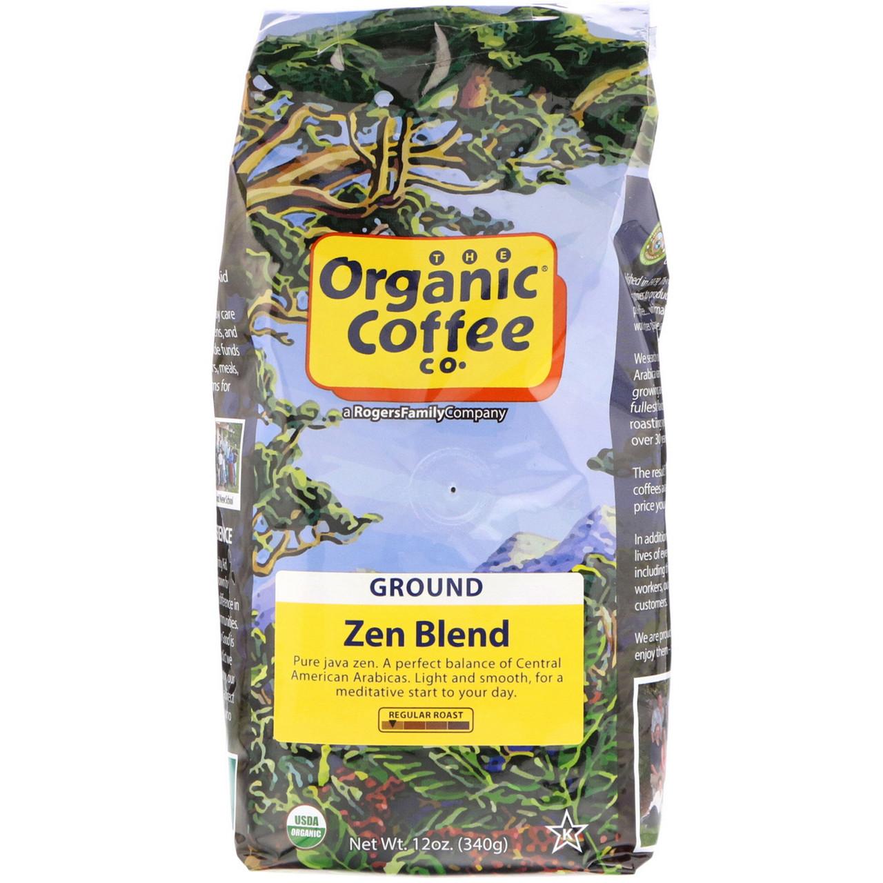 Кофе крупного помола, Zen Blend, Organic Coffee Co, 340 г