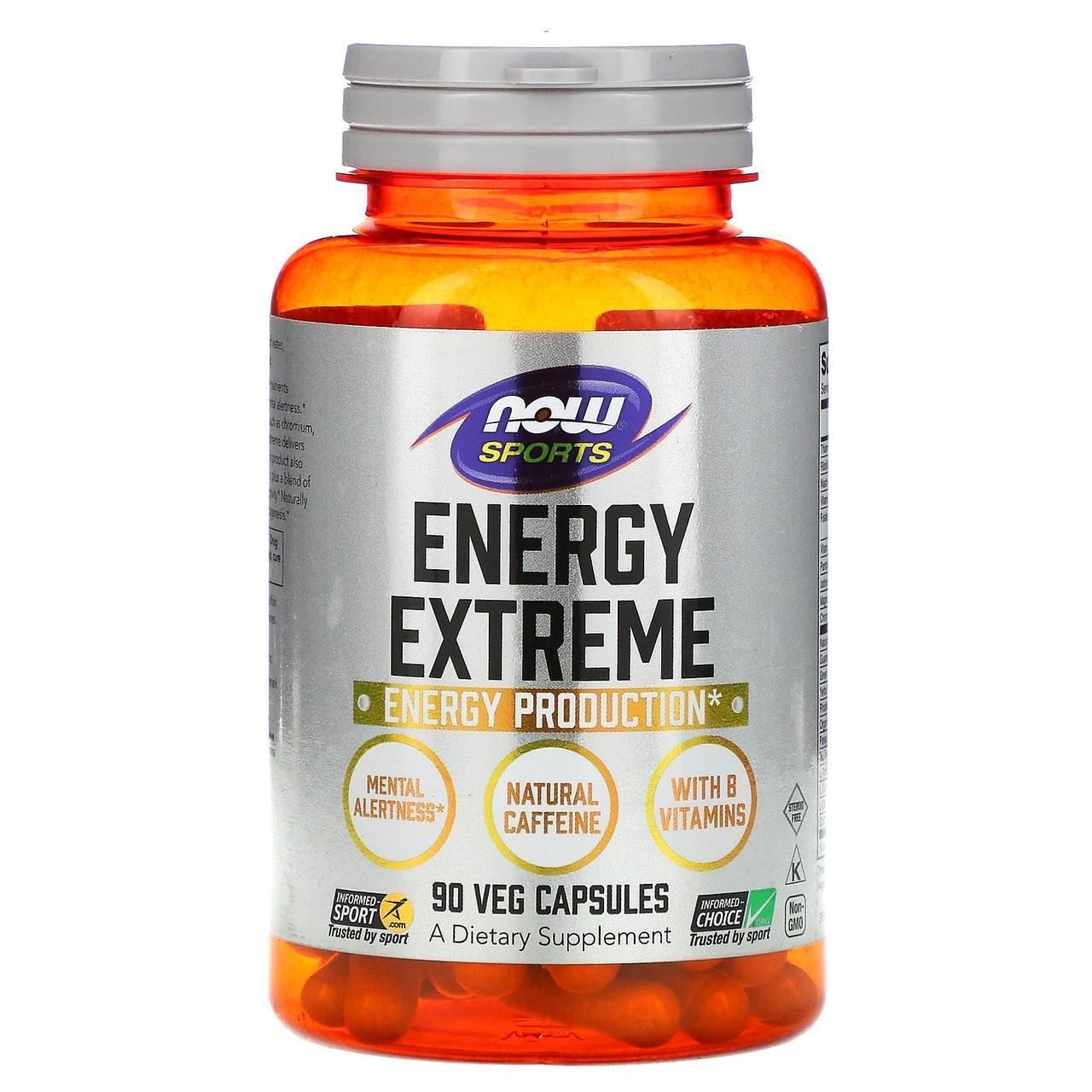 Энергетическая формула, Energy Extreme, Now Foods, 90 капсул