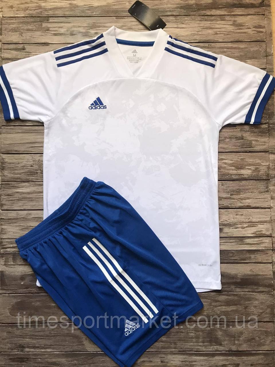 Футбольная форма для команд ADIDAS белый/синий (Реплика)