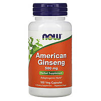 Женьшень американский, American Ginseng, Now Foods, 500 мг, 100