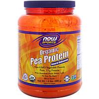 Гороховый протеин, Sports Organic Pea Protein, Now Foods, 680 гр