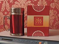 """Термокружка  с двойными стенками и ситечком для заварки """"Office Cup"""" - 400 мл. Нержавейка. , фото 1"""