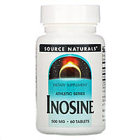 Инозин 500 мг, Inosine, Source Naturals, 60 таблеток
