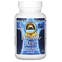 Инфлама Рест, Inflama-Rest, Source Naturals, 60 таблеток