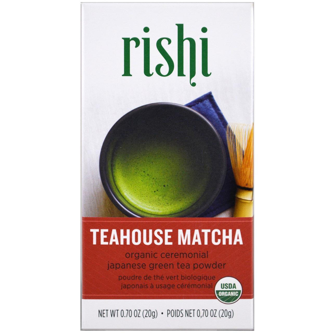 Rishi Tea, Teahouse Matcha, Органический зеленый чай маття, 0,70 унции (20 г)