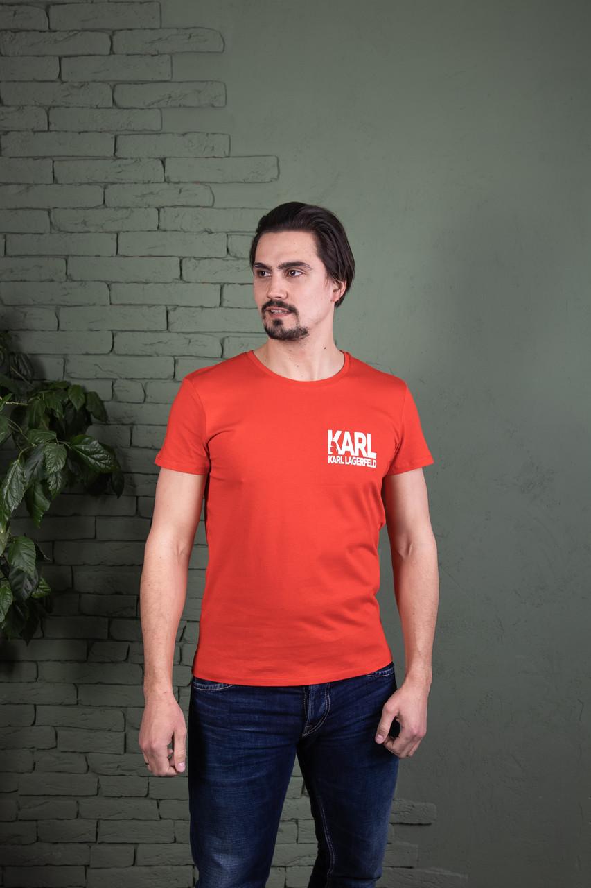 Однотонна футболка прилеглого силуету Karl Lagerfeld (кольори в асортименті)
