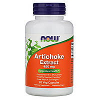 Артишок экстракт, Artichoke, Now Foods, 450 мг, 90 капсул