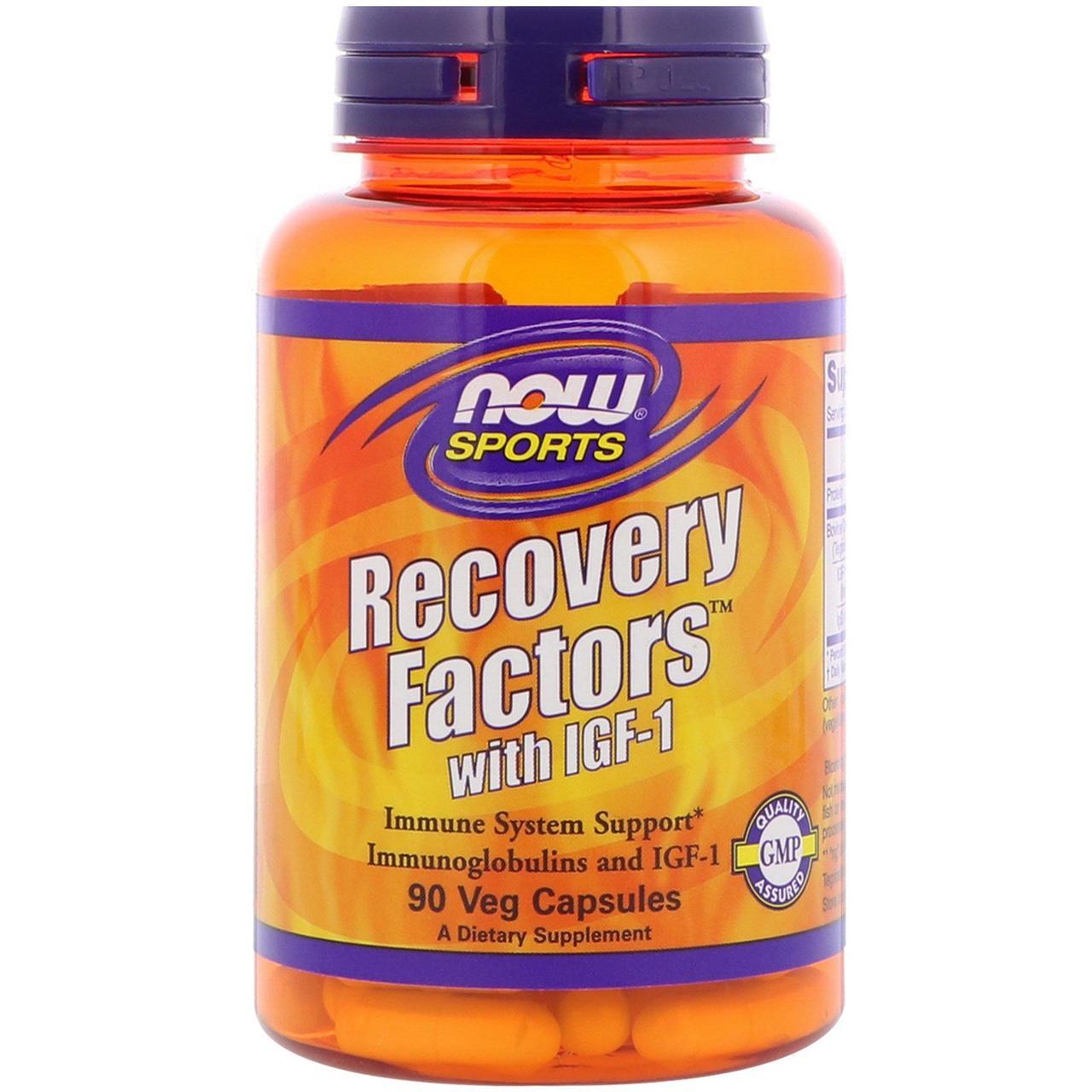 Инсулиноподобный фактор, Recovery Factors with IGF-1, Now Foods, 90 капсул