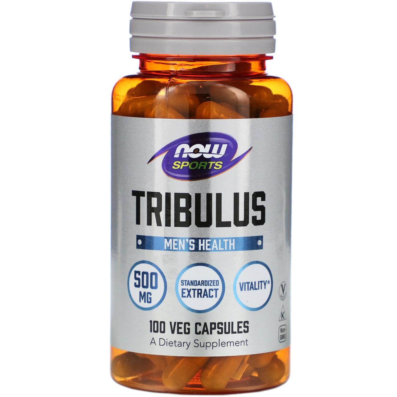 Трибулус, Спорт, Tribulus, Now Food, 500 мг, 100 капсул