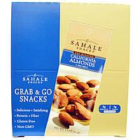 Калифорнийский соленый миндаль, Grab & Go Snacks, Sahale Snacks,  9 пак. по 42,5 г