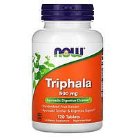 Трифала (Triphala), Now Foods, 500 мг, 120 таблеток