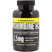 Йохимбин HCl, Yohimbine HCl, Primaforce, 2,5 мг, 90 капсул