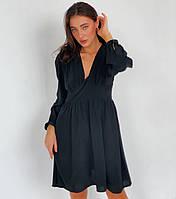 Шелковое платье с завышенной талией, фото 1