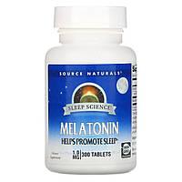 Source Naturals, Мелатонин, 1 мг, 300 таблеток