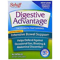 Schiff, Пищеварительное преимущество, интенсивная помощь кишечнику, 96 капсул