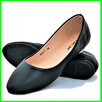 .Балетки Черные Мокасины Женские Туфли (размеры: 36,37,38,39) - 05-1, фото 1