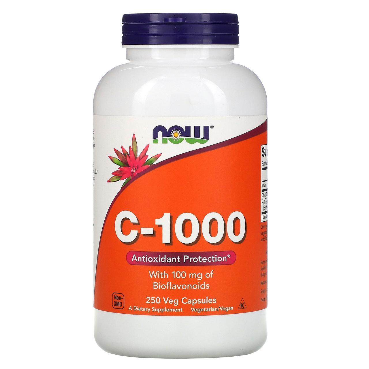 Вітамін С-1000, Now Foods, 250 капсул
