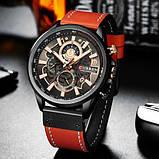 Годинник чоловічий Curren 8380 Black-Brown, фото 2