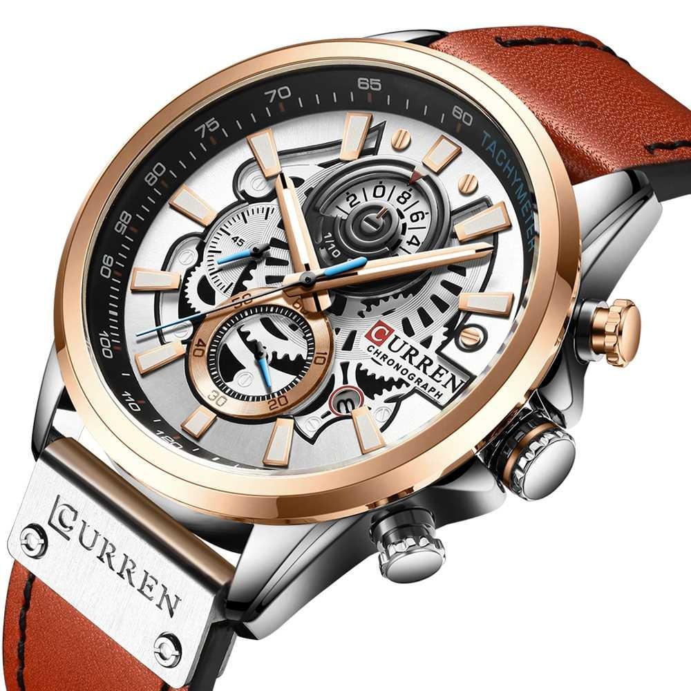 Curren 8380 Silver-Cuprum-Brown