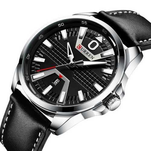 Годинник чоловічий Curren 8379 Silver-Black