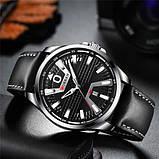 Годинник чоловічий Curren 8379 Silver-Black, фото 2