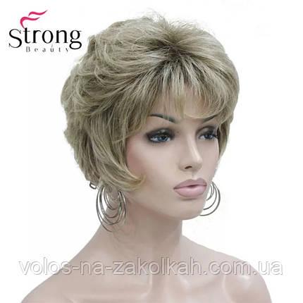 Парик короткая стрижка  блонд волна  парик стойка каре 1123# 60, фото 2
