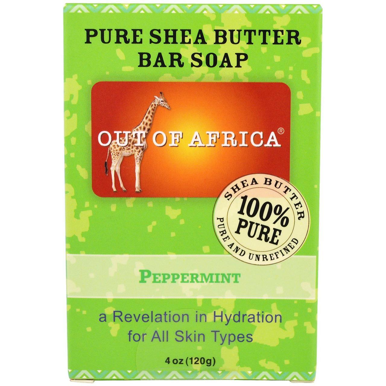 Мыло с маслом ши+мята, Soap, Out of Africa, 113 гр.