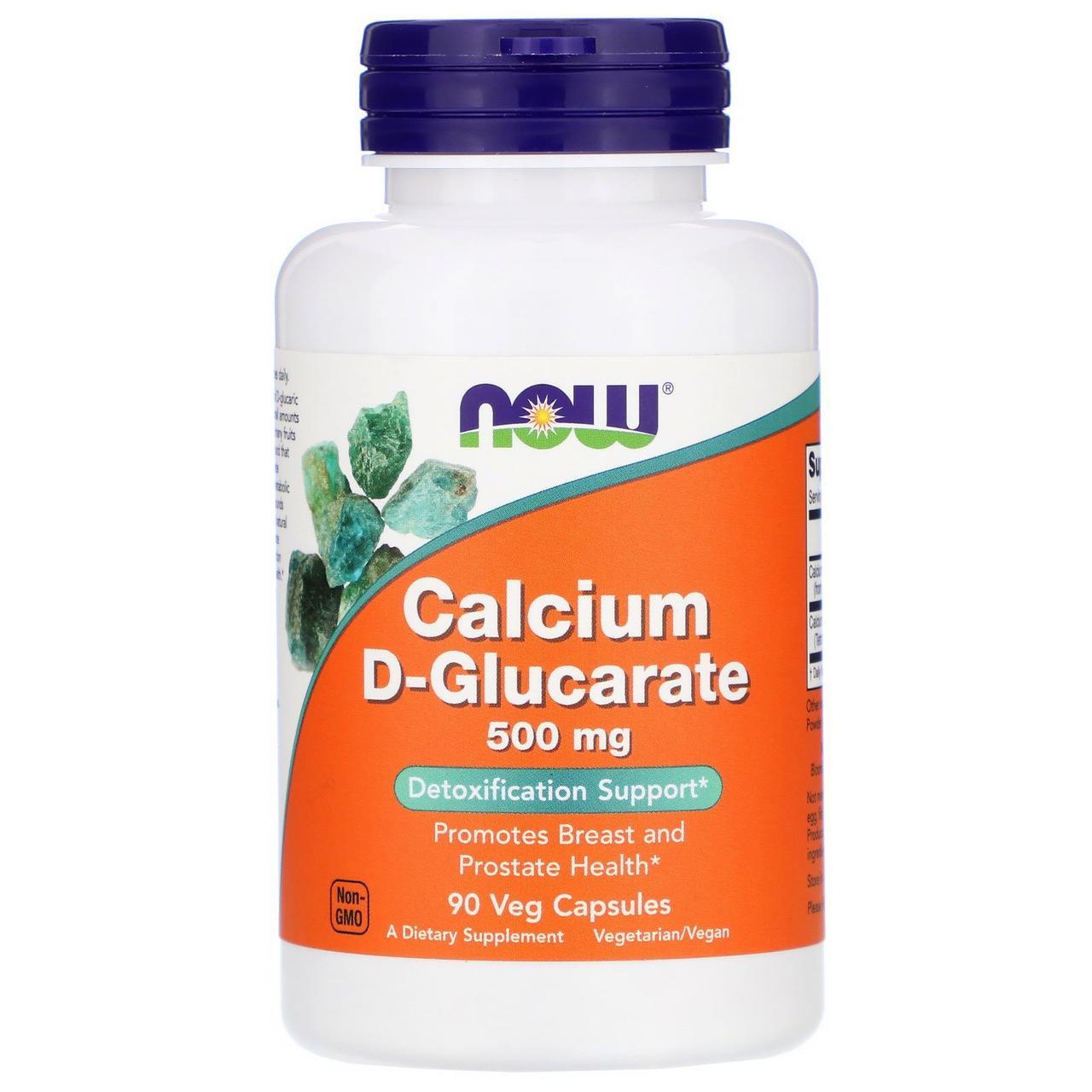 Now Foods, кальцію Глюкорат, 500 мг, 90 капсул вегетаріанських