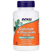 Now Foods, Глюкорат кальция, 500 мг, 90 вегетарианских капсул