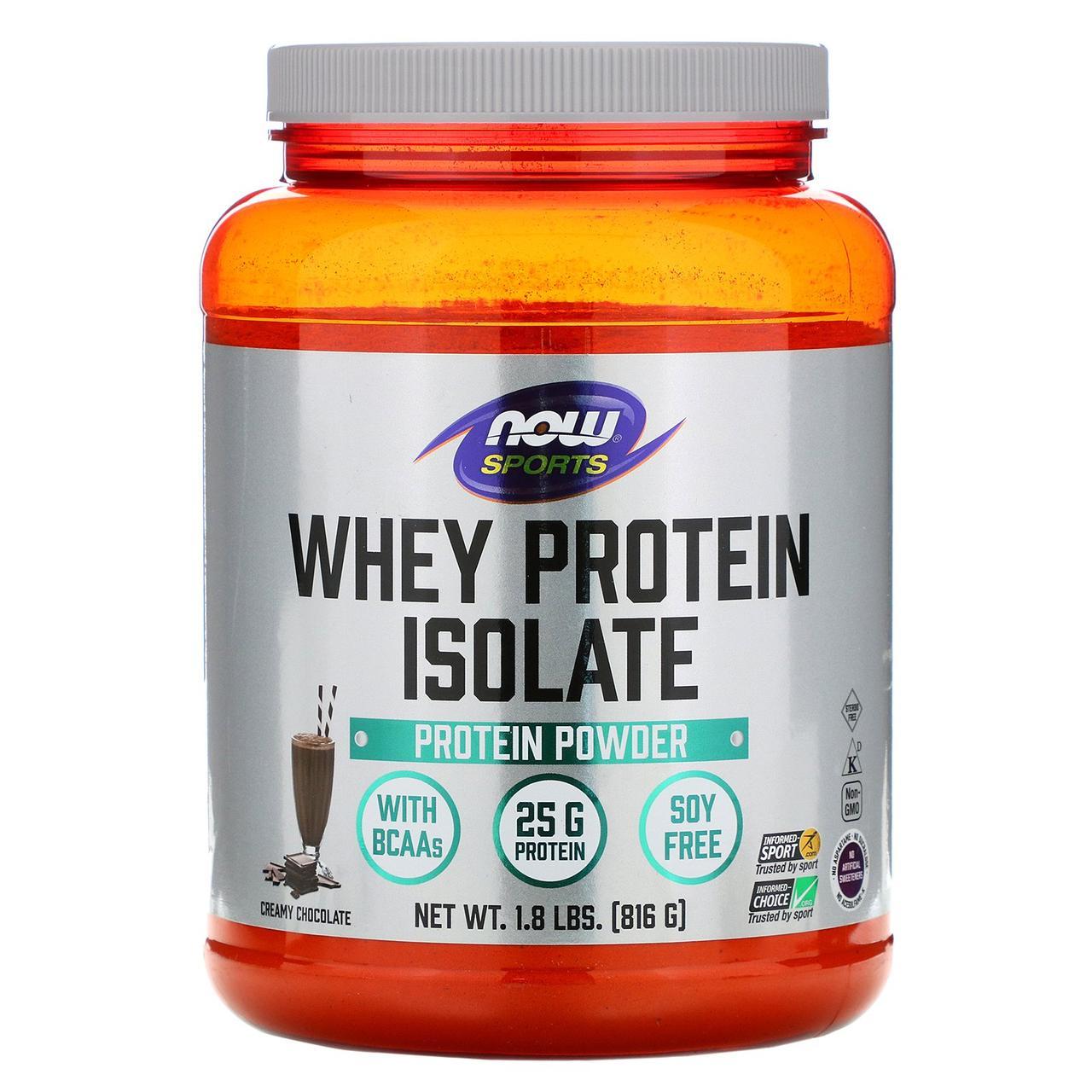 Сывороточный протеин изолят, Whey Protein Isolate, Now Foods, 816 г