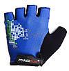 Велорукавички PowerPlay 002 D M Сині (002D_M_Blue), фото 2