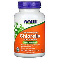Хлорелла (Certified Organic Chlorella), Now Foods, 113 грамм