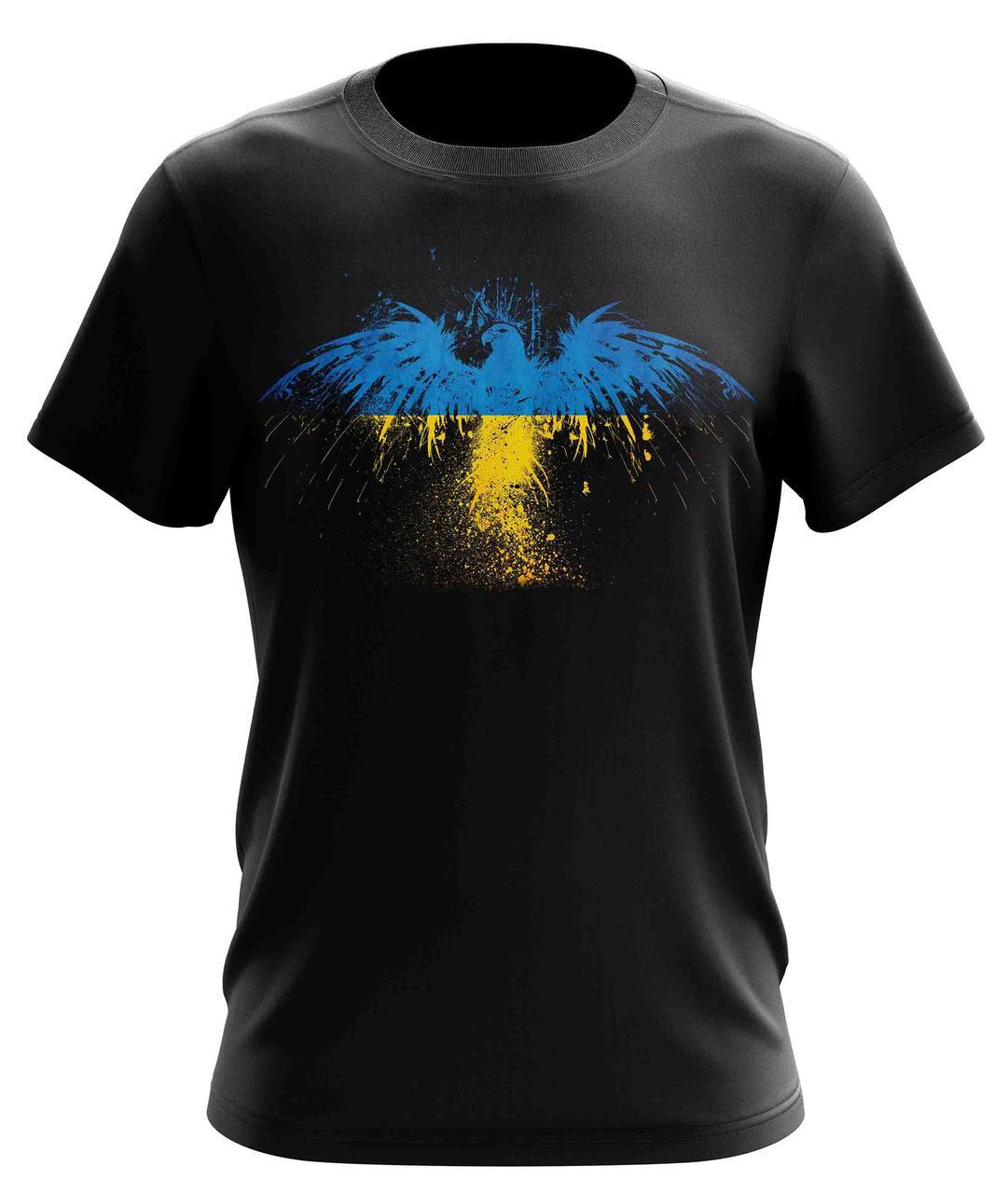 """Стильная мужская футболка  """"Орел желто-голубой"""""""
