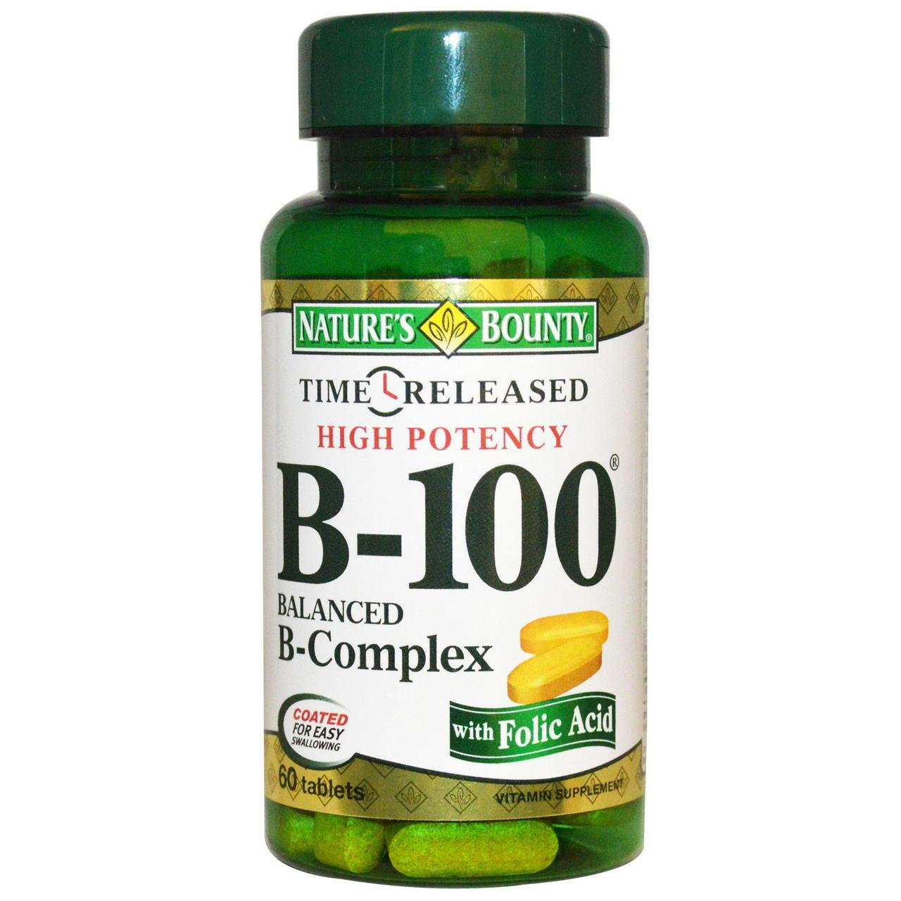 Nature's Bounty, B-100, High Potency, 60 Tablets