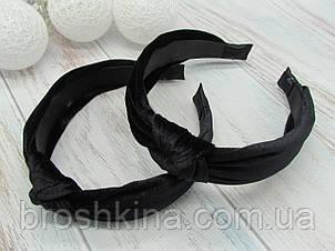 Обручі Чалма оксамит основа пластик/текстиль 6 шт/уп. чорні