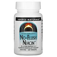 Ниацинамид (В3) 500 мг, Source Naturals, 60 таб.