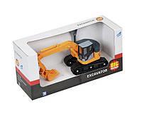 Детская игрушечная строительная машина Big Motors «Мини-экскаватор», желтая