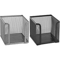 Бокс для бумаги Бокс для бумаги 10х10х10см металлический Axent 2112-A (2112-21-A(белый) x 144865), фото 1