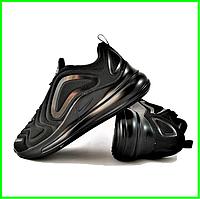Кроссовки N!ke Air Max 720 Чёрные Мужские Найк (размеры: 40,41,42,43,44) Видео Обзор