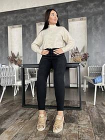 Джинсы Черные Большого Размера, Женские джинсы батал, Облегающие джинсы
