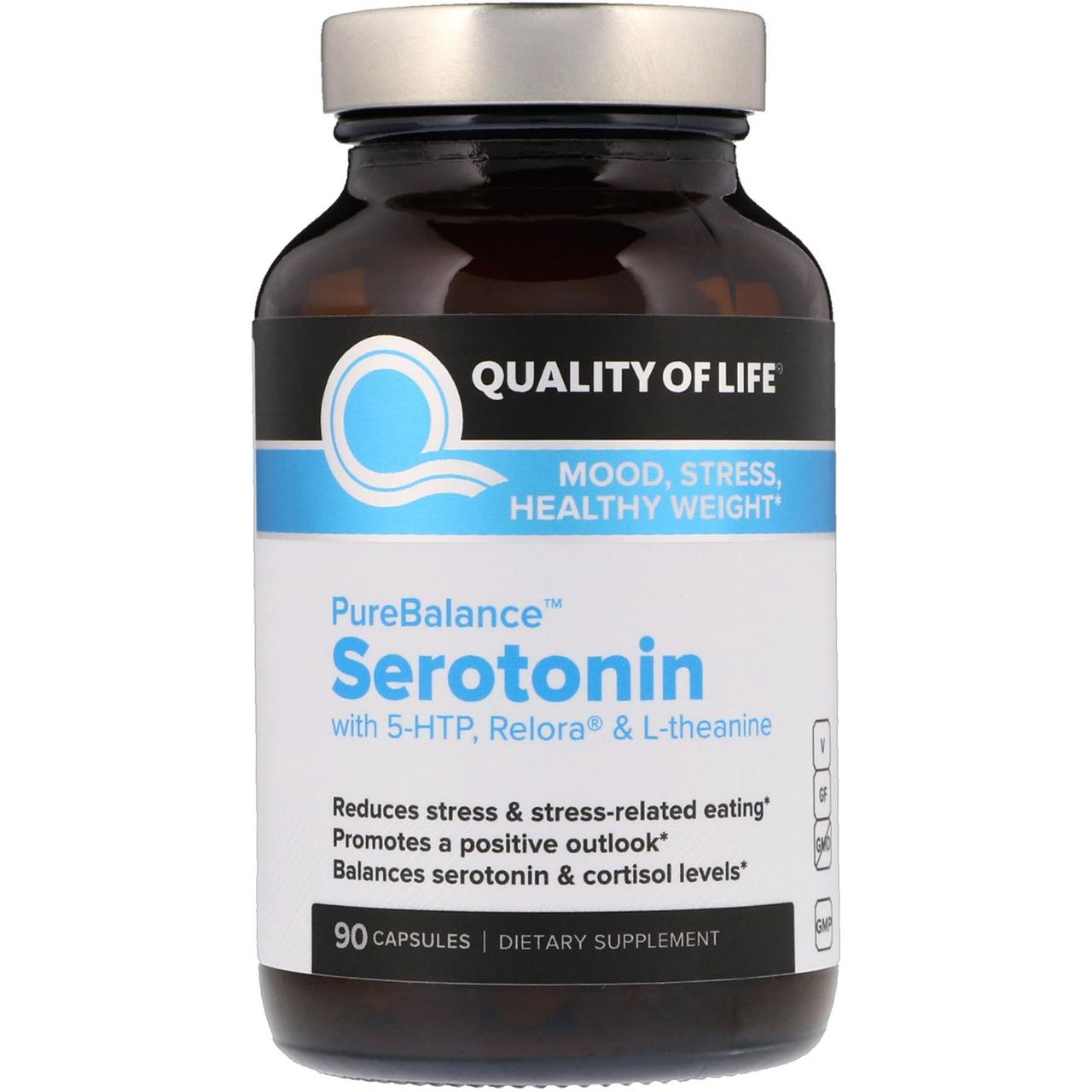 Формула від стресу, Serotonin, Quality of Life Labs, 90 капсул