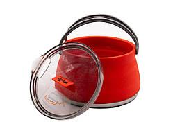 Чайник Tramp силиконовый с металлическим дном 1л терракот TRC-125