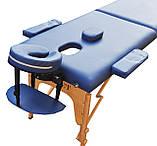 Массажный стол  с вырезом под лицо ZENET  ZET-1042 NAVY BLUE  размер  S (180*60*61), фото 2