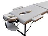 Складной массажный стол  ZENET  ZET-1044 CREAM размер L ( 195*70*61), фото 2