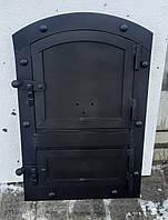 """Дверца для пічки,мангала """"Велика кнопка"""" овал"""