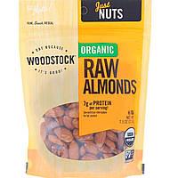 Сырой миндаль, Raw Almonds, Woodstock, 213 г
