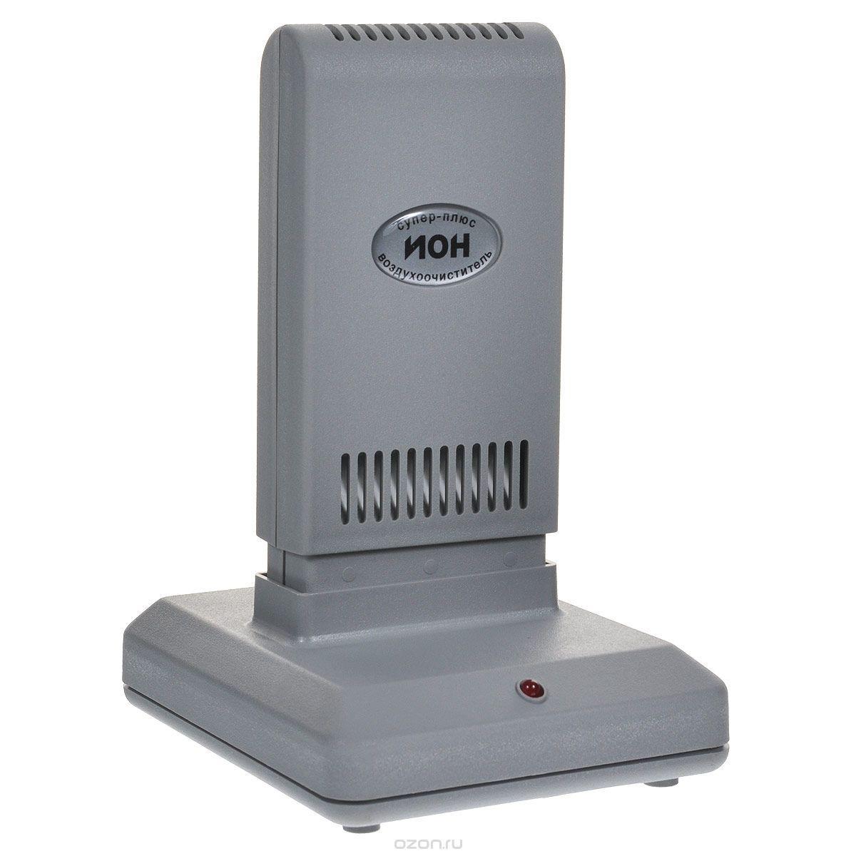 Очищувач іонізатор повітря Супер Плюс Іон сірий